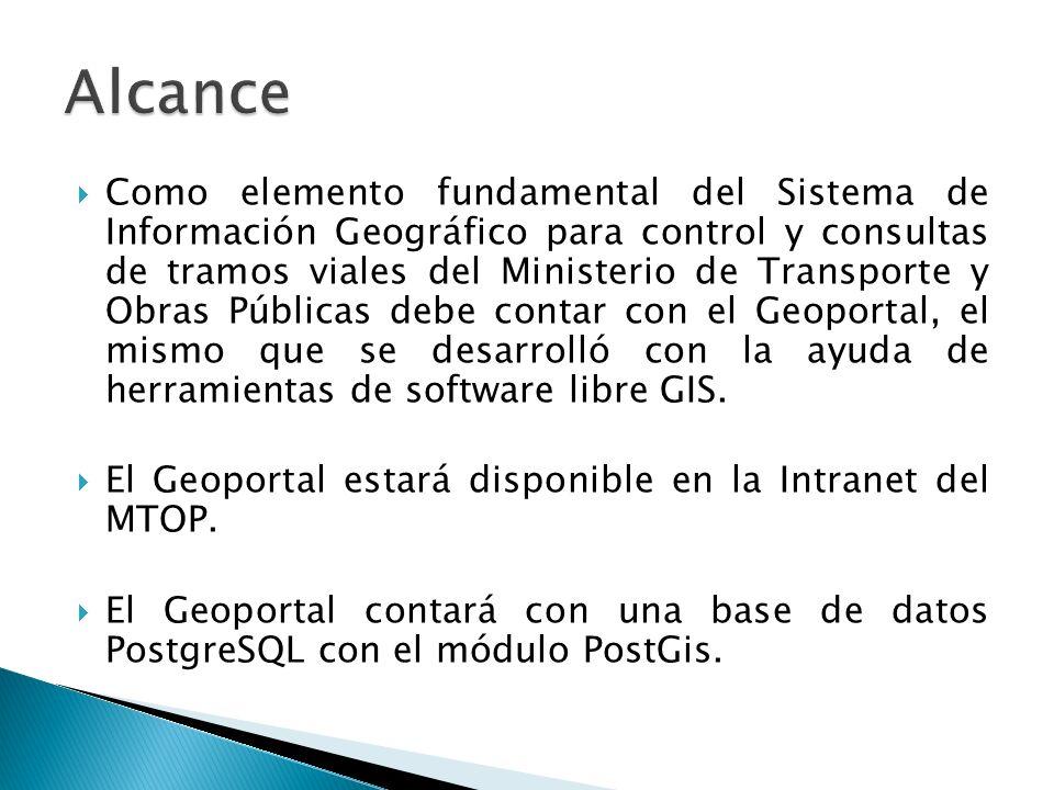 Como elemento fundamental del Sistema de Información Geográfico para control y consultas de tramos viales del Ministerio de Transporte y Obras Pública