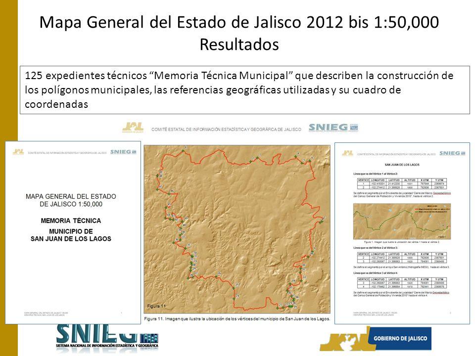 125 expedientes técnicos Memoria Técnica Municipal que describen la construcción de los polígonos municipales, las referencias geográficas utilizadas y su cuadro de coordenadas