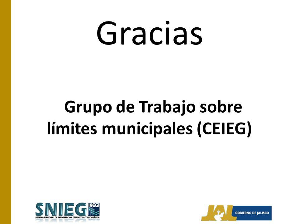 Grupo de Trabajo sobre límites municipales (CEIEG) Gracias