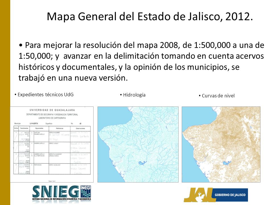 Para mejorar la resolución del mapa 2008, de 1:500,000 a una de 1:50,000; y avanzar en la delimitación tomando en cuenta acervos históricos y documentales, y la opinión de los municipios, se trabajó en una nueva versión.
