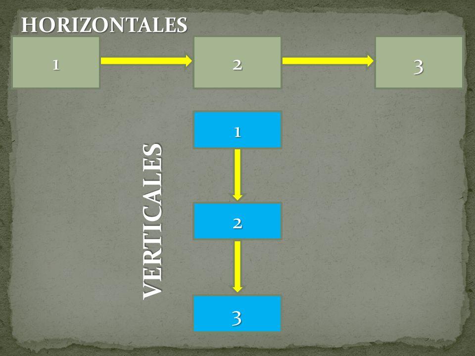 132 3 2 1 HORIZONTALES VERTICALES