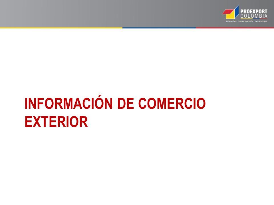 INFORMACIÓN DE COMERCIO EXTERIOR