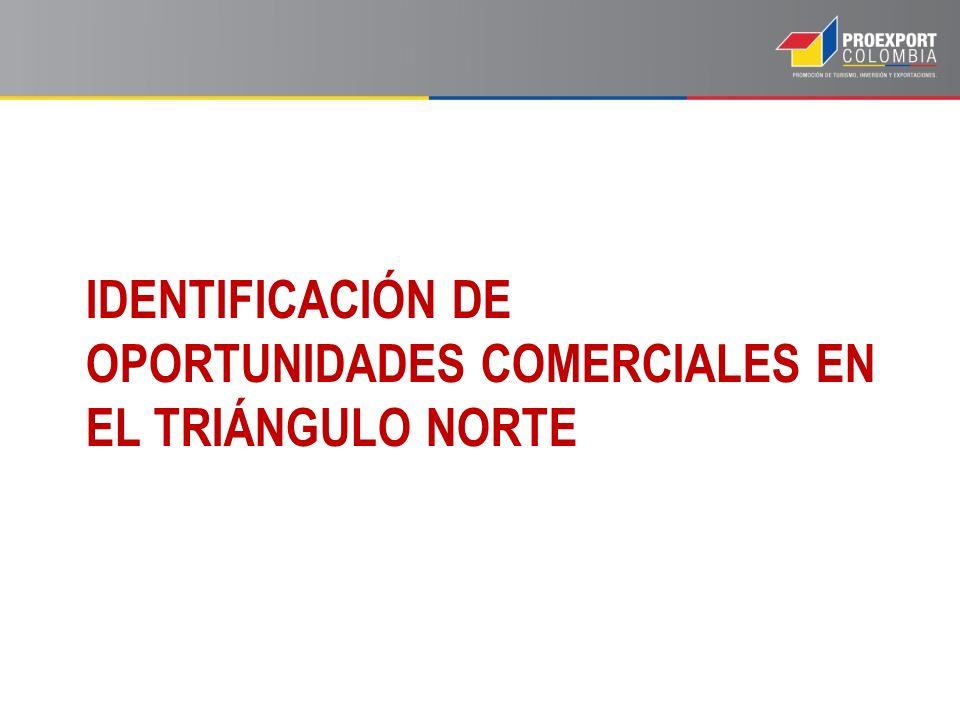 IDENTIFICACIÓN DE OPORTUNIDADES COMERCIALES EN EL TRIÁNGULO NORTE