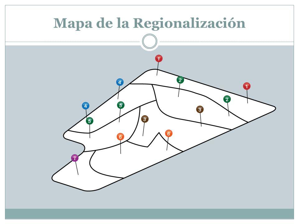 Mapa de la Regionalización