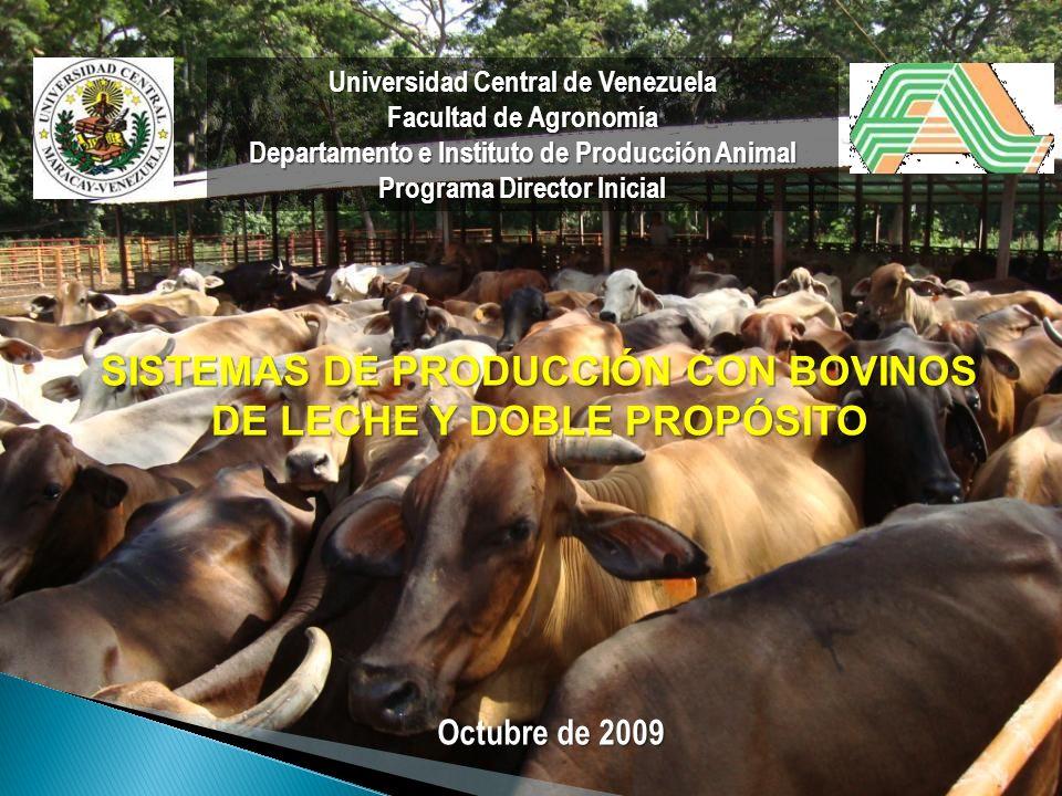Universidad Central de Venezuela Facultad de Agronomía Departamento e Instituto de Producción Animal Programa Director Inicial SISTEMAS DE PRODUCCIÓN