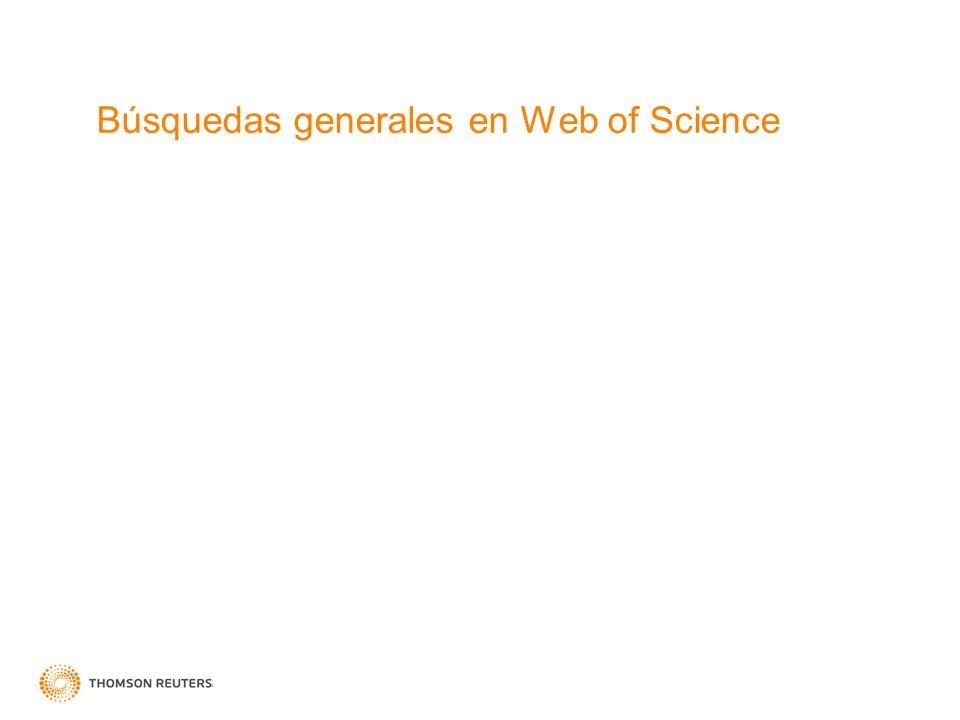 Búsquedas generales en Web of Science