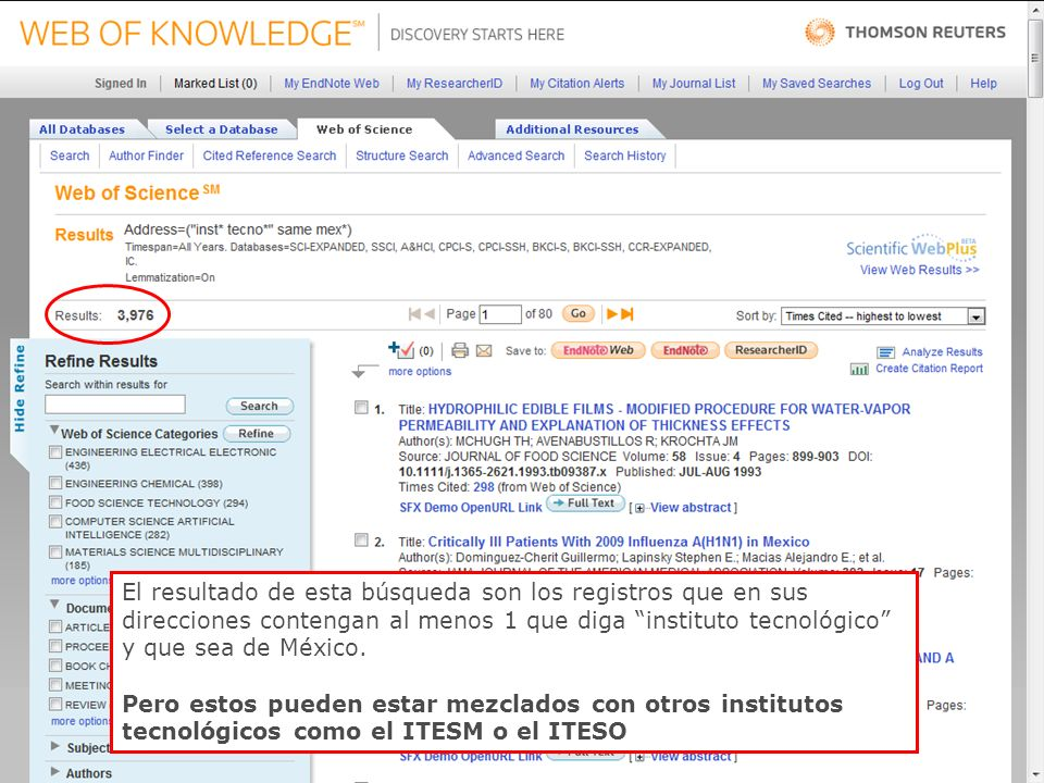 42 El resultado de esta búsqueda son los registros que en sus direcciones contengan al menos 1 que diga instituto tecnológico y que sea de México.