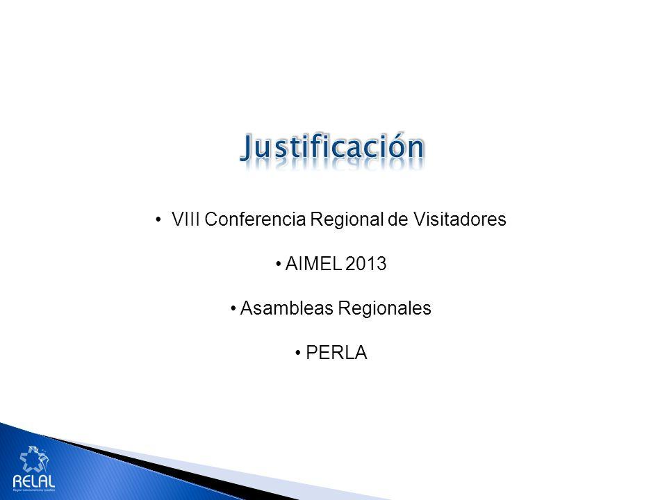 VIII Conferencia Regional de Visitadores AIMEL 2013 Asambleas Regionales PERLA