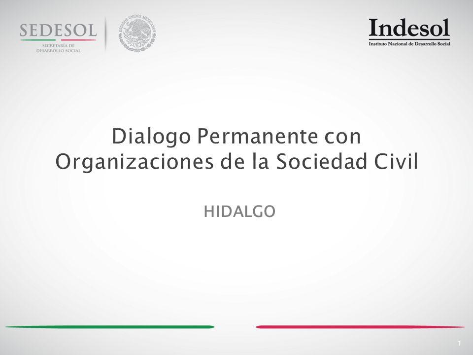 12 22,508 Organizaciones inscritas en el Registro Federal de Organizaciones de la Sociedad Civil Fuente: Registro Federal de Organizaciones de la Sociedad Civil.