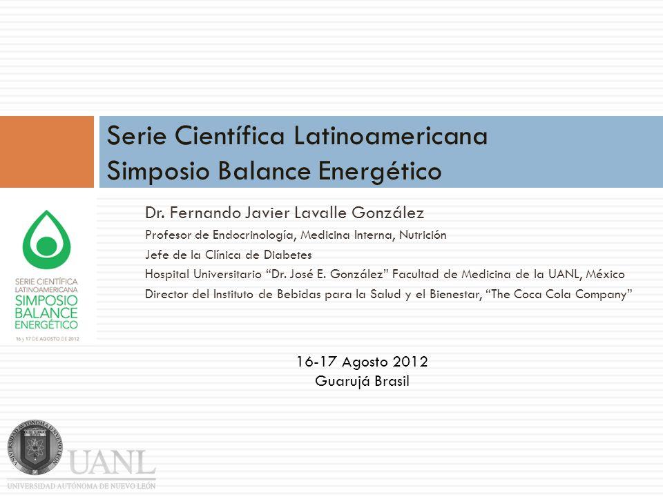 Dr. Fernando Javier Lavalle González Profesor de Endocrinología, Medicina Interna, Nutrición Jefe de la Clínica de Diabetes Hospital Universitario Dr.