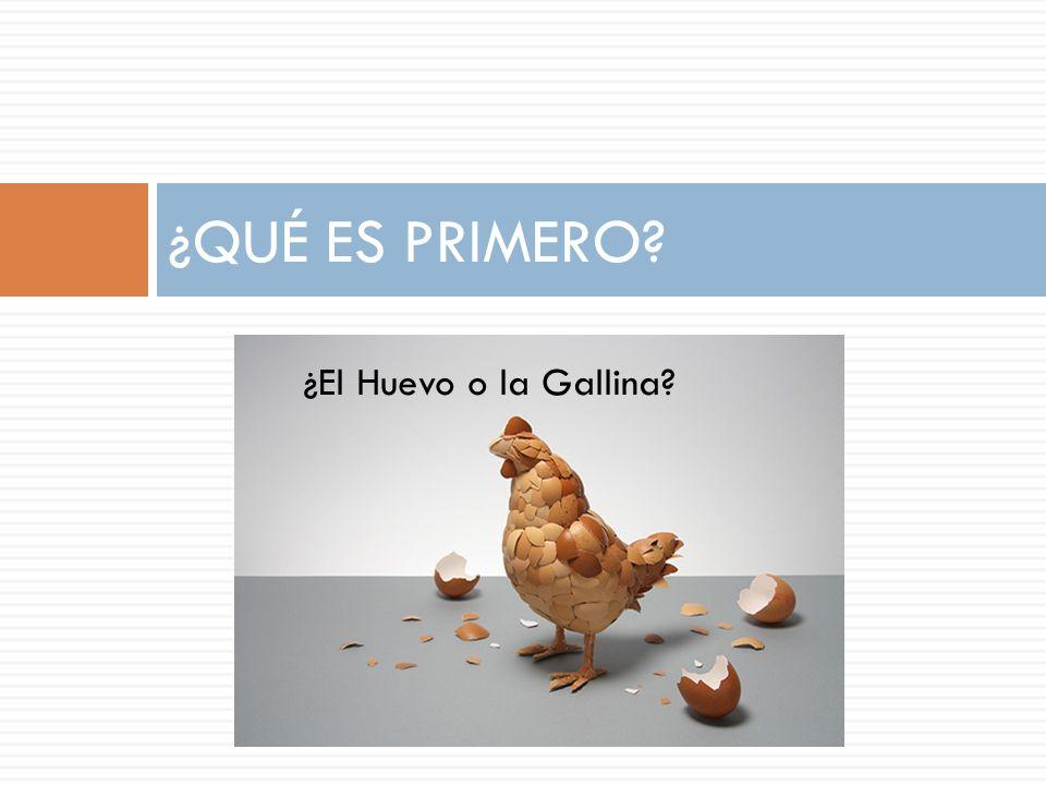 ¿El Huevo o la Gallina? ¿QUÉ ES PRIMERO?