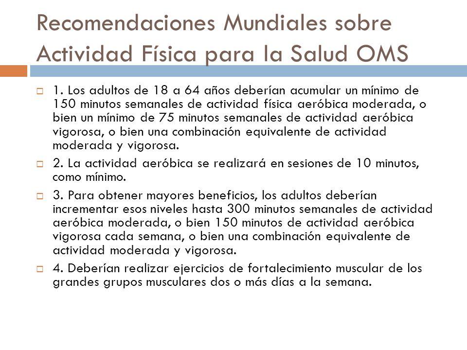 Recomendaciones Mundiales sobre Actividad Física para la Salud OMS 1.