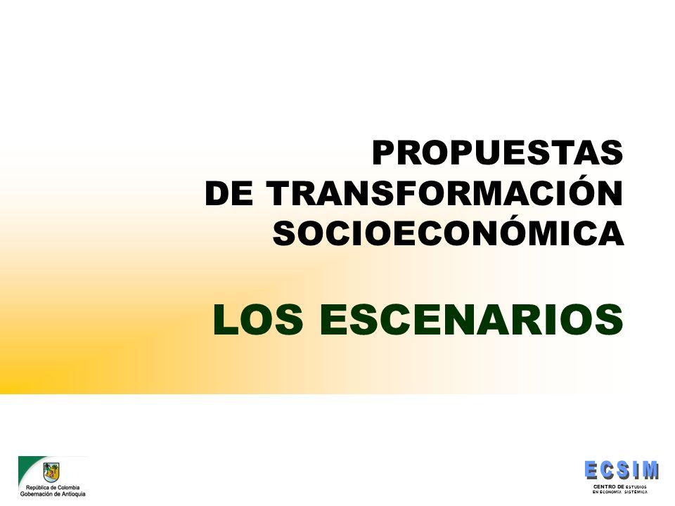 CENTRO DE ESTUDIOS EN ECONOMÍA SISTÉMICA PROPUESTAS DE TRANSFORMACIÓN SOCIOECONÓMICA LOS ESCENARIOS