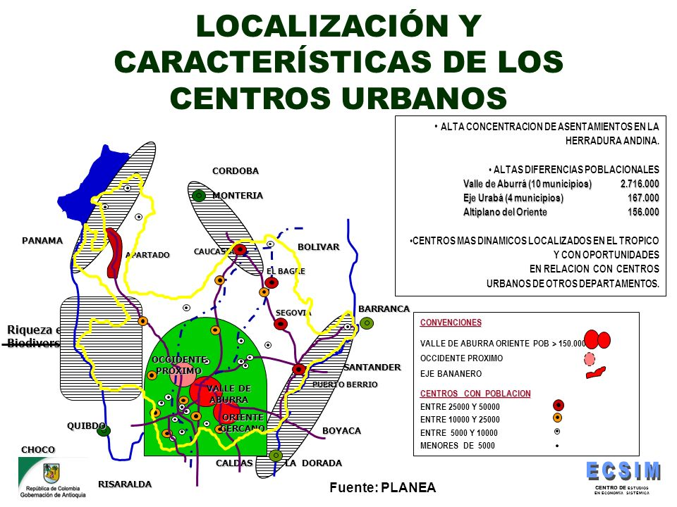 CENTRO DE ESTUDIOS EN ECONOMÍA SISTÉMICA CALDAS Riqueza en Biodiversidad CORDOBA BOLIVAR SANTANDER BOYACA RISARALDA CHOCO PANAMA MONTERIA BARRANCA LA