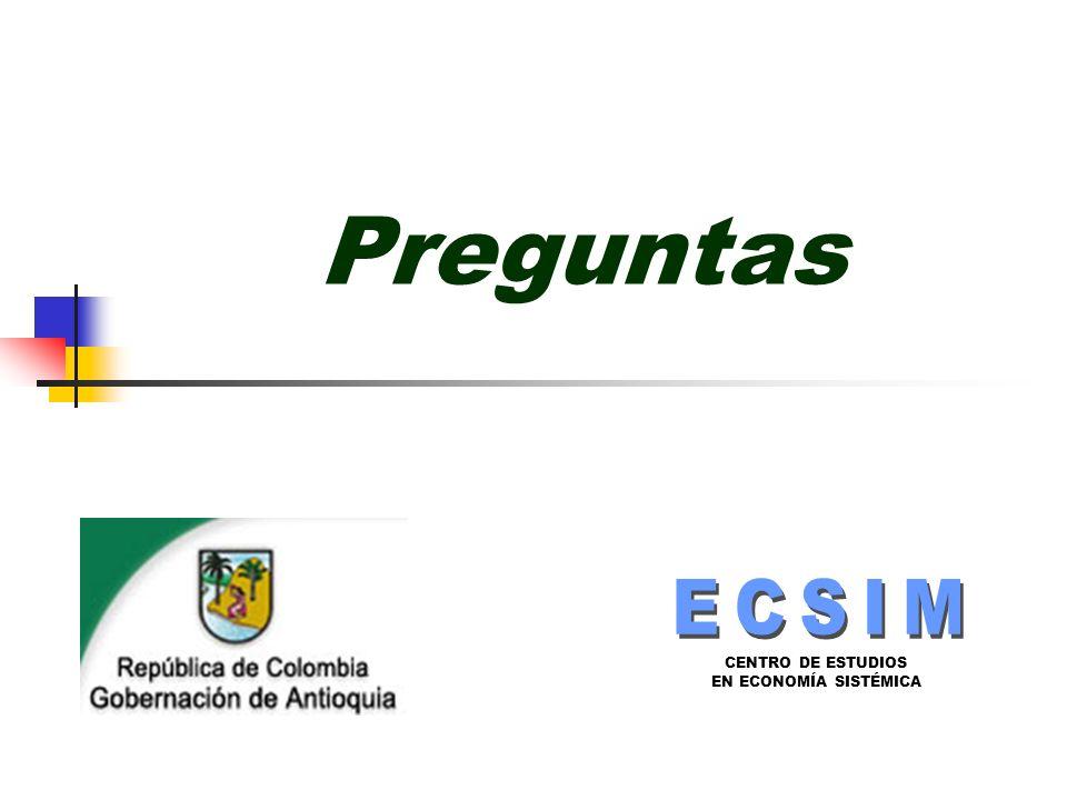 CENTRO DE ESTUDIOS EN ECONOMÍA SISTÉMICA Preguntas