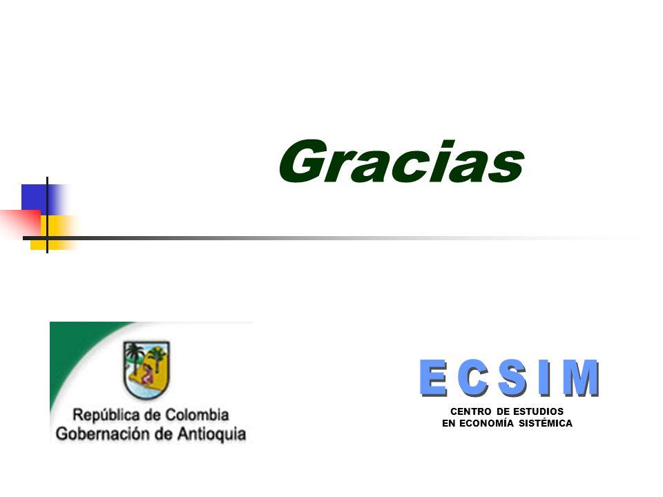 CENTRO DE ESTUDIOS EN ECONOMÍA SISTÉMICA Gracias