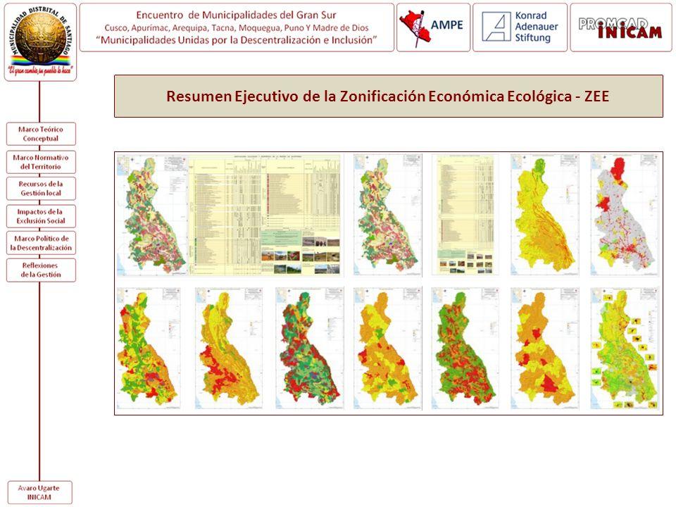 Resumen Ejecutivo de la Zonificación Económica Ecológica - ZEE