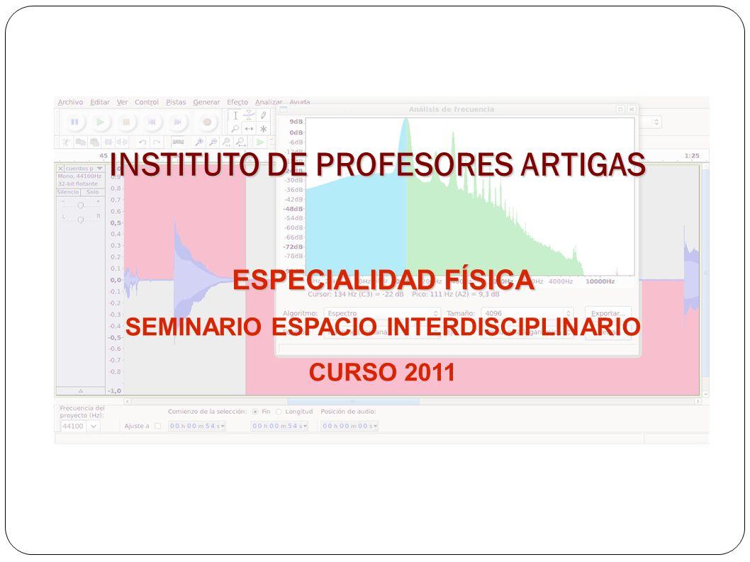 INSTITUTO DE PROFESORES ARTIGAS ESPECIALIDAD FÍSICA SEMINARIO ESPACIO INTERDISCIPLINARIO CURSO 2011