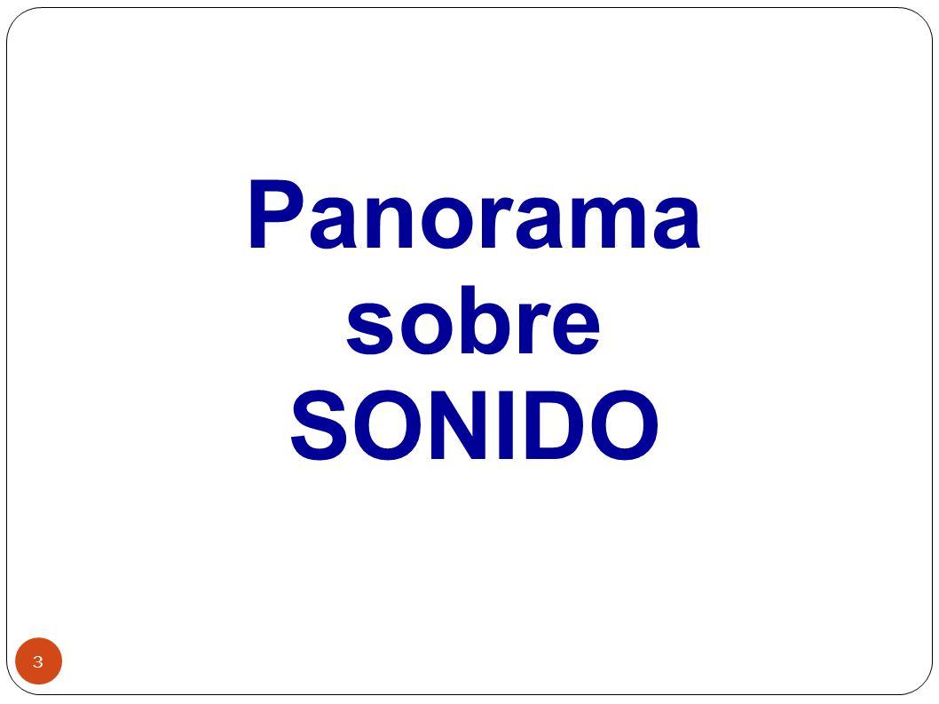 3 Panorama sobre SONIDO
