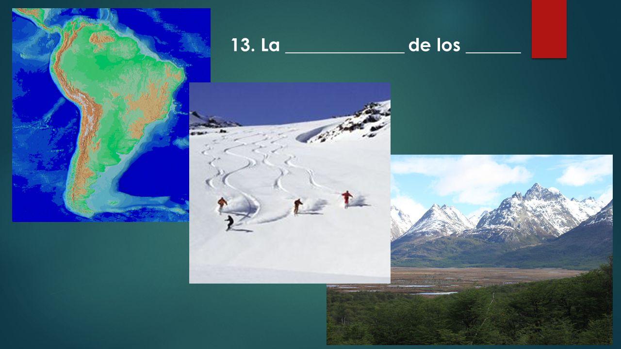 13. La _____________ de los ______