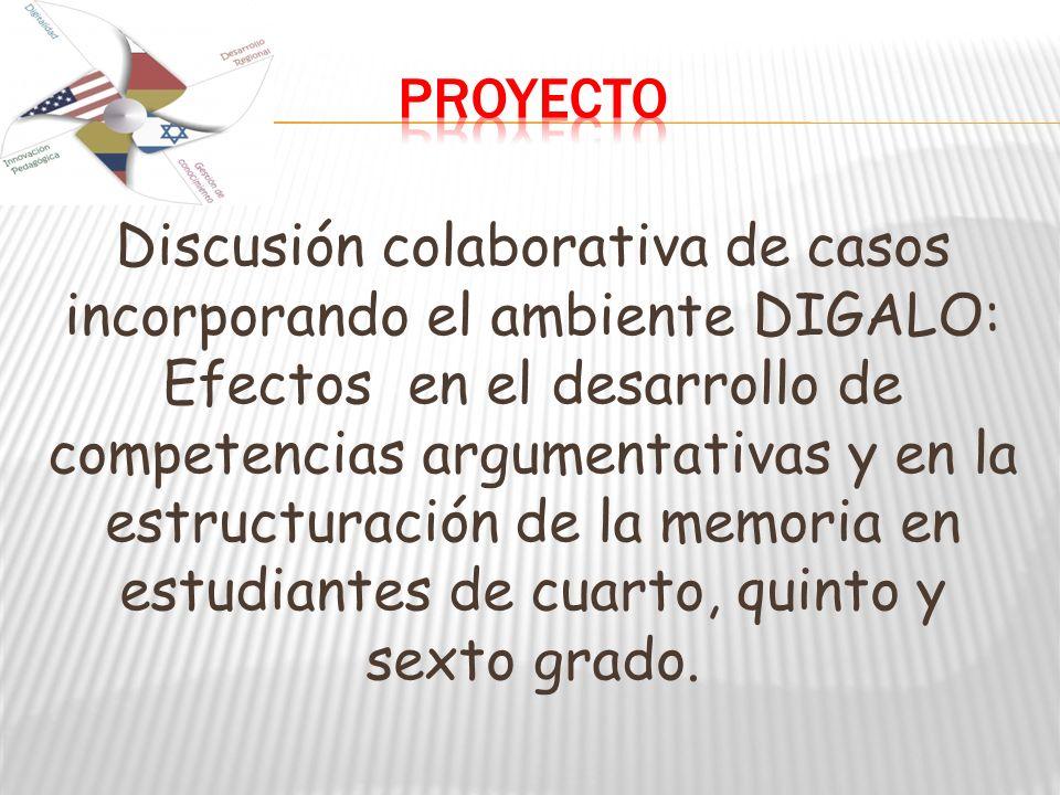 Discusión colaborativa de casos incorporando el ambiente DIGALO: Efectos en el desarrollo de competencias argumentativas y en la estructuración de la memoria en estudiantes de cuarto, quinto y sexto grado.