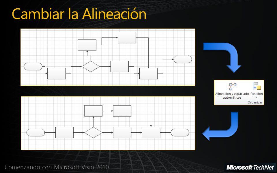 Comenzando con Microsoft Visio 2010 Cambiar la Alineación