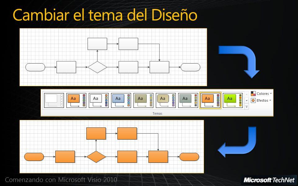 Comenzando con Microsoft Visio 2010 Cambiar el tema del Diseño