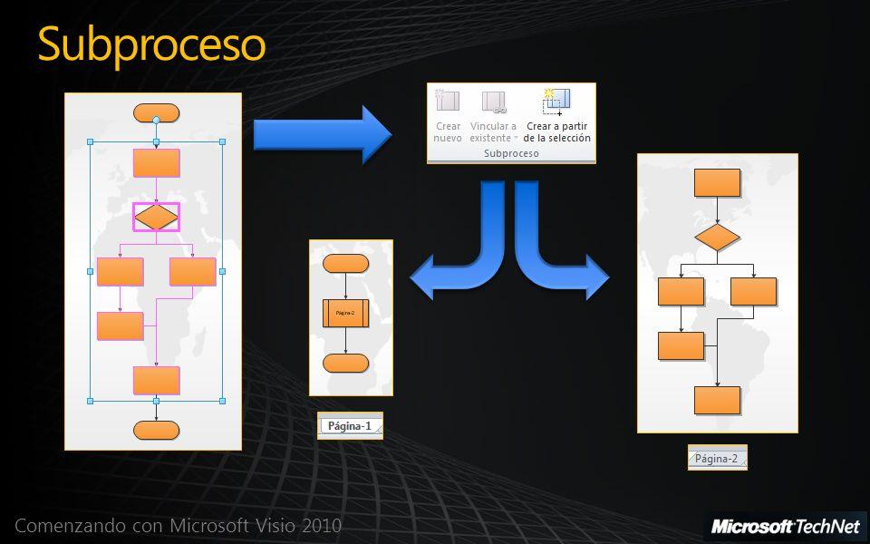 Comenzando con Microsoft Visio 2010 Subproceso
