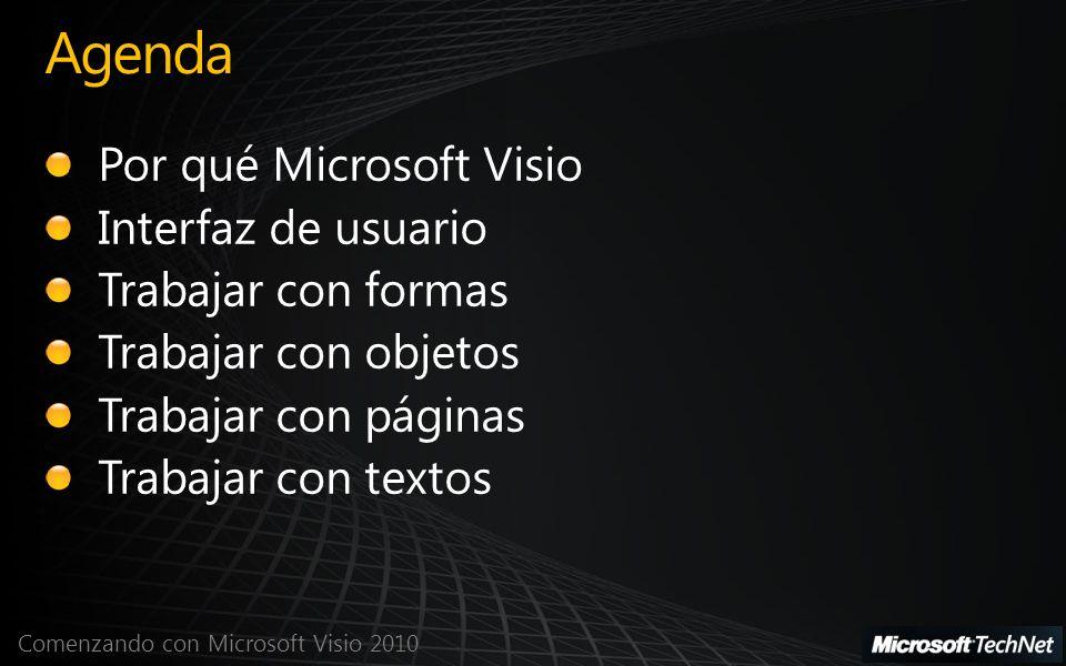 Comenzando con Microsoft Visio 2010 Texto