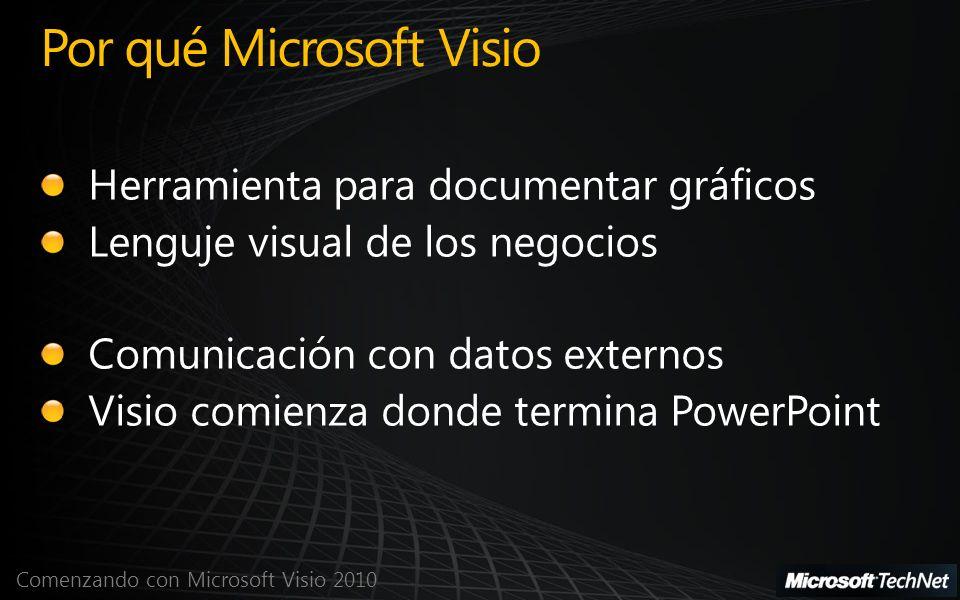 Comenzando con Microsoft Visio 2010 Microsoft Visio 2010