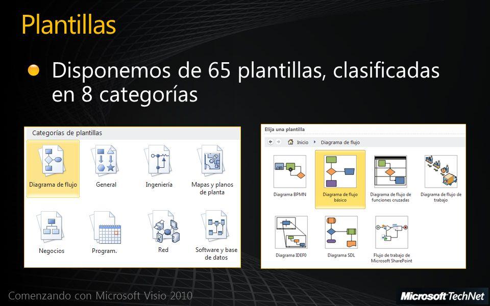 Comenzando con Microsoft Visio 2010 Ejemplos Visio - 1 Diagrama de flujo Diagrama de flujo de funciones cruzadas Diagrama BPMNDiagrama de causa y efecto