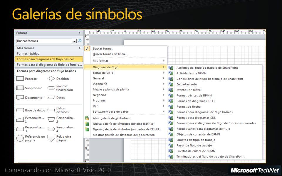 Comenzando con Microsoft Visio 2010 Galerías de símbolos