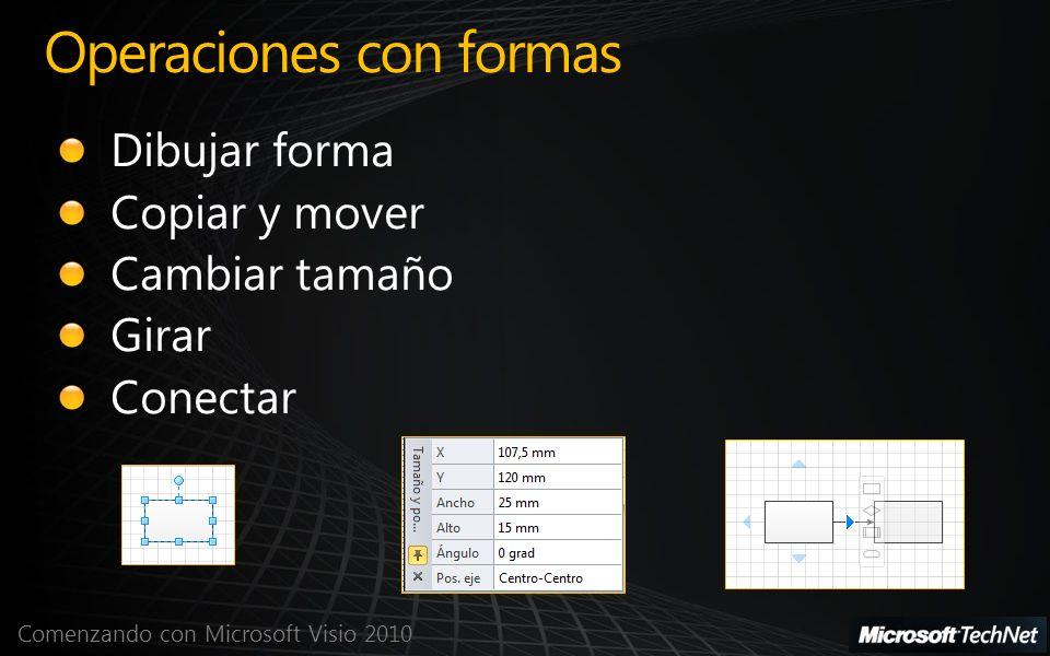 Comenzando con Microsoft Visio 2010 Operaciones con formas