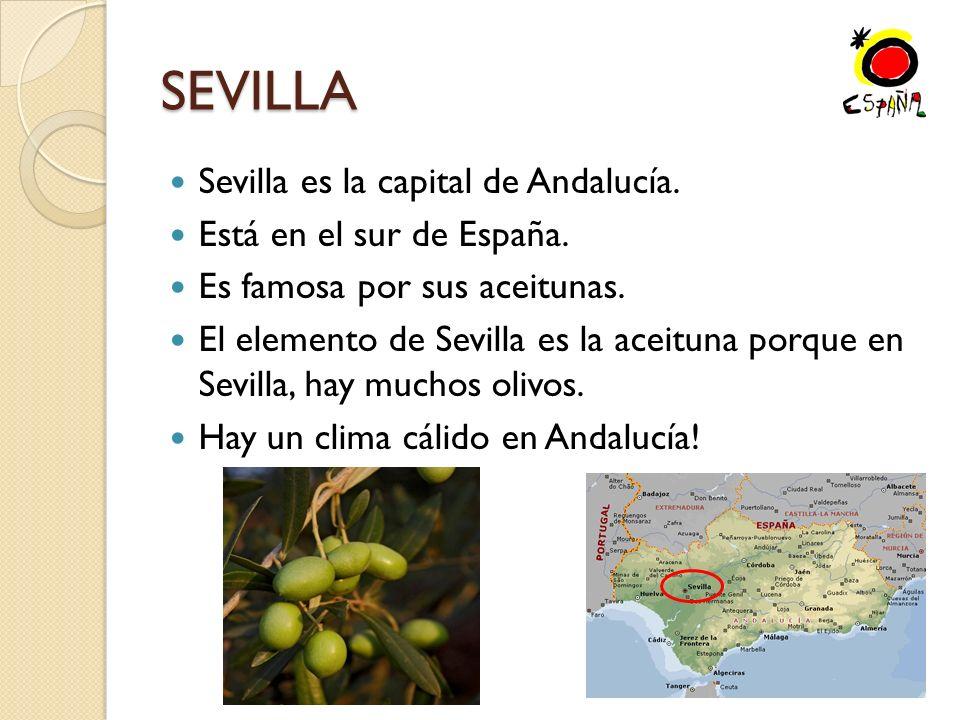 SEVILLA Sevilla es la capital de Andalucía.Está en el sur de España.