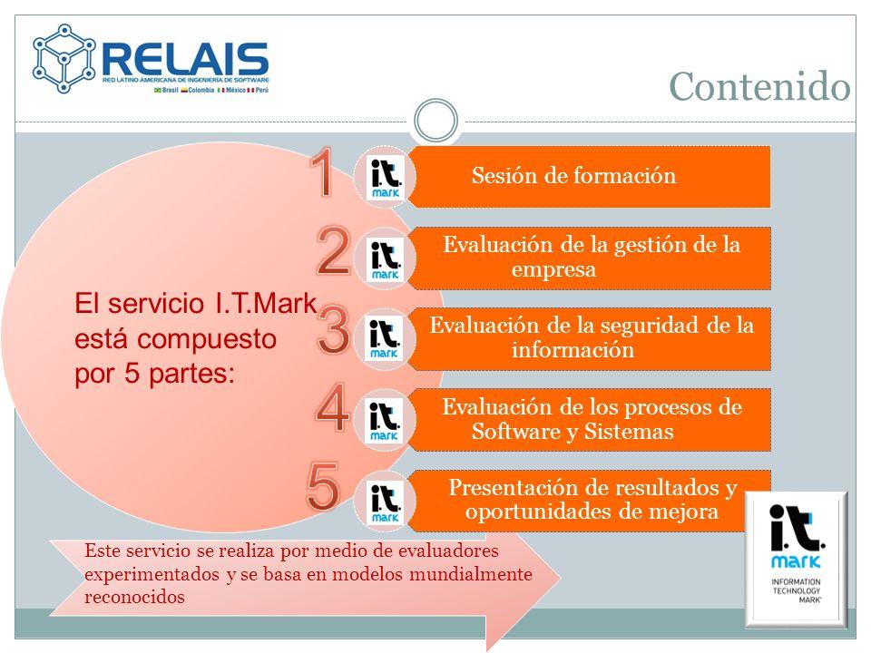 El servicio I.T.Mark está compuesto por 5 partes: Contenido Este servicio se realiza por medio de evaluadores experimentados y se basa en modelos mund