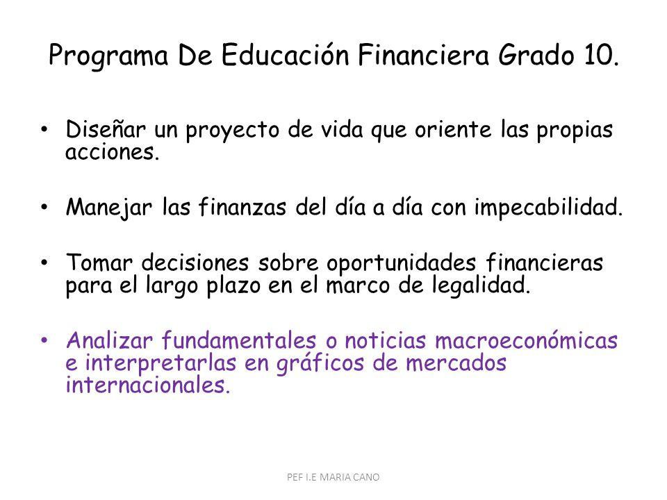 Programa De Educación Financiera Grado 10.