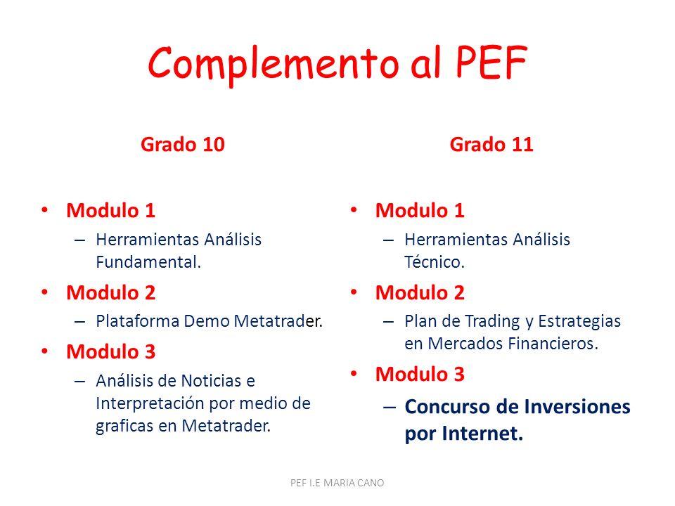 Complemento al PEF Grado 10 Modulo 1 – Herramientas Análisis Fundamental.