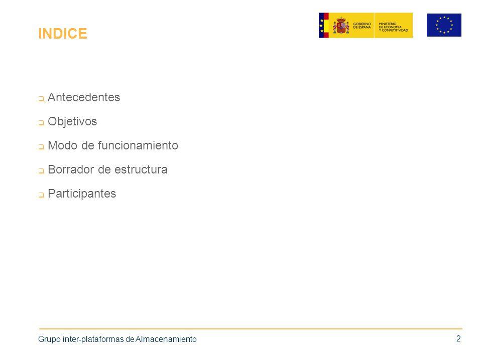 INDICE Antecedentes Objetivos Modo de funcionamiento Borrador de estructura Participantes 2