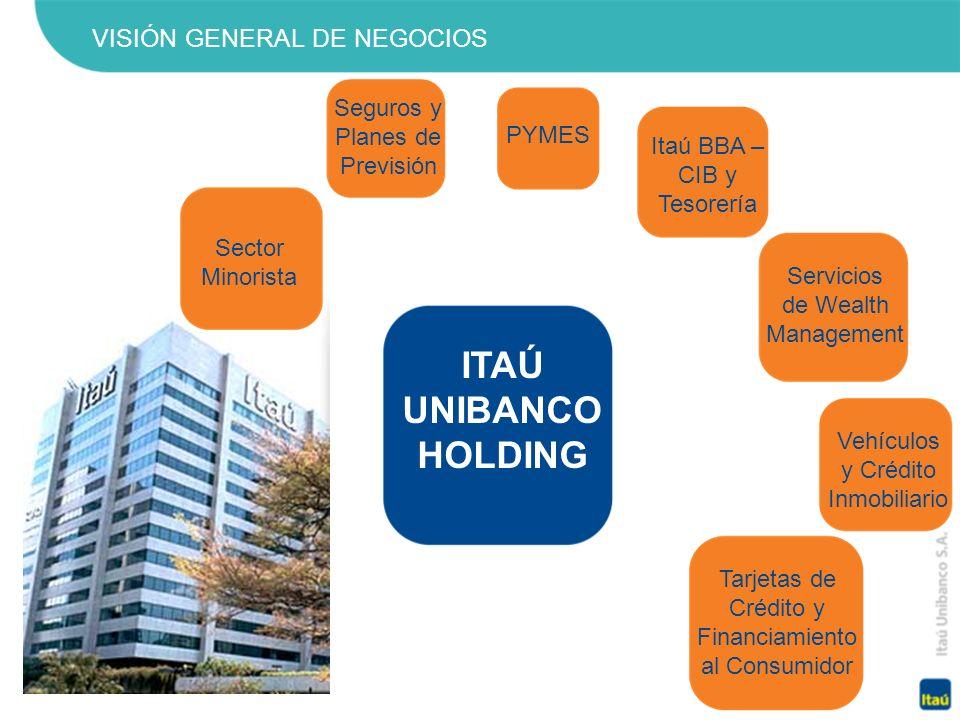 VISIÓN GENERAL DE NEGOCIOS Tarjetas de Crédito y Financiamiento al Consumidor Sector Minorista PYMES Seguros y Planes de Previsión Servicios de Wealth