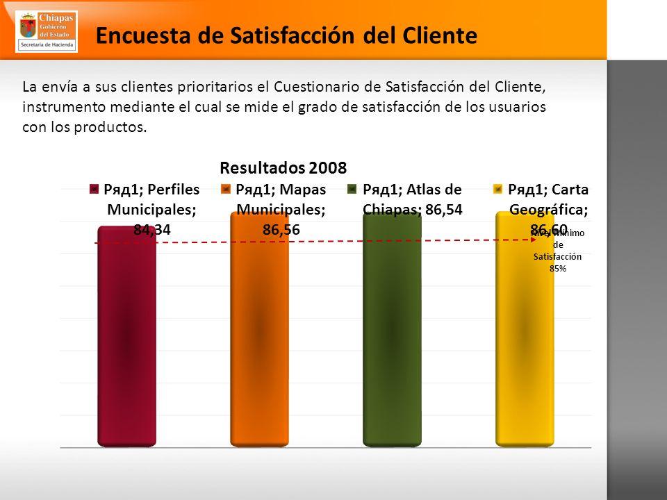 Encuesta de Satisfacción del Cliente La envía a sus clientes prioritarios el Cuestionario de Satisfacción del Cliente, instrumento mediante el cual se mide el grado de satisfacción de los usuarios con los productos.
