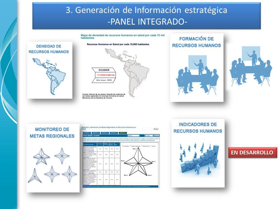 3. Generación de Información estratégica -PANEL INTEGRADO- EN DESARROLLO