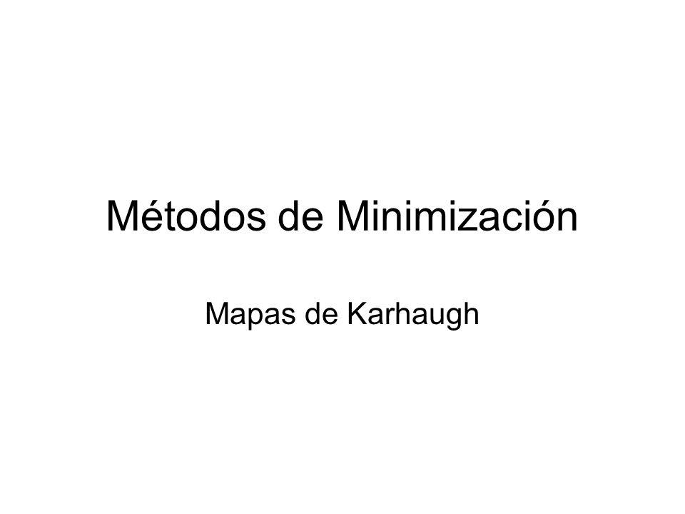 Métodos de Minimización Mapas de Karhaugh