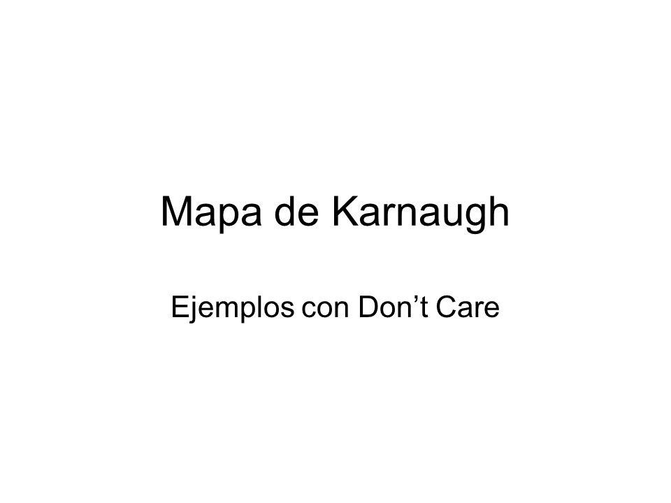 Mapa de Karnaugh Ejemplos con Dont Care