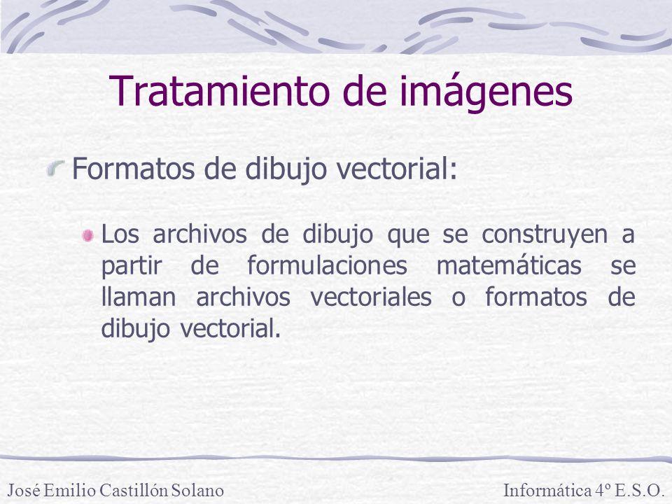 Formatos de dibujo vectorial: Los archivos de dibujo que se construyen a partir de formulaciones matemáticas se llaman archivos vectoriales o formatos