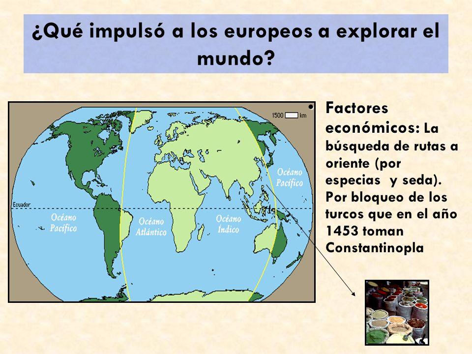España a la India por el Atlántico El primer viaje de Colón, entre 1492 y 1493.