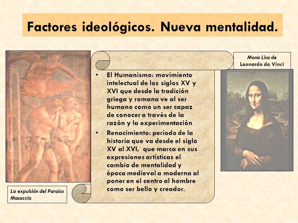 Factores ideológicos.Nueva mentalidad.