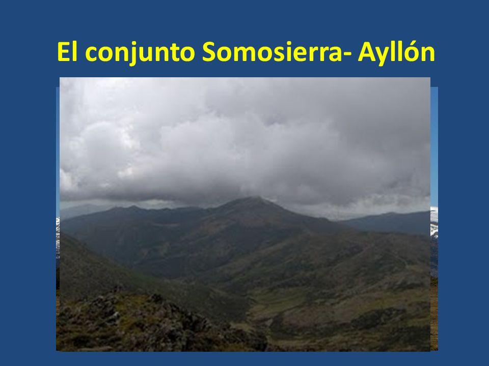 El conjunto Somosierra- Ayllón El pico más importante es el de Peñalara, de 2.428 m de altitud (el pico más alto de la región) Otro pico importante es