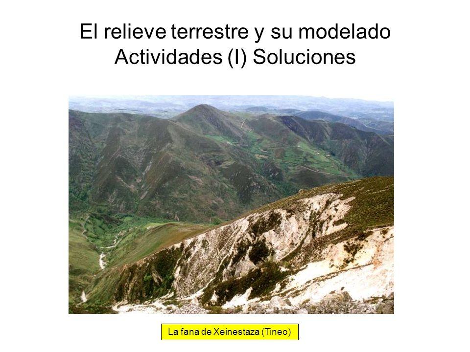 El relieve terrestre y su modelado Actividades (I) Soluciones La fana de Xeinestaza (Tineo)