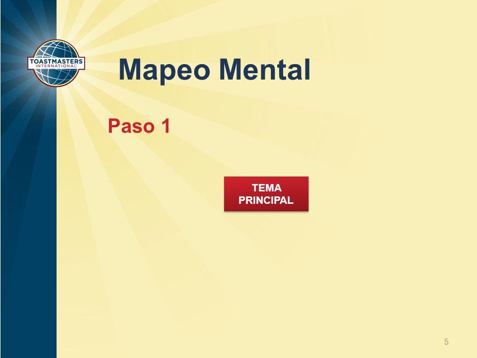 Mapeo Mental 5 TEMA PRINCIPAL Paso 1