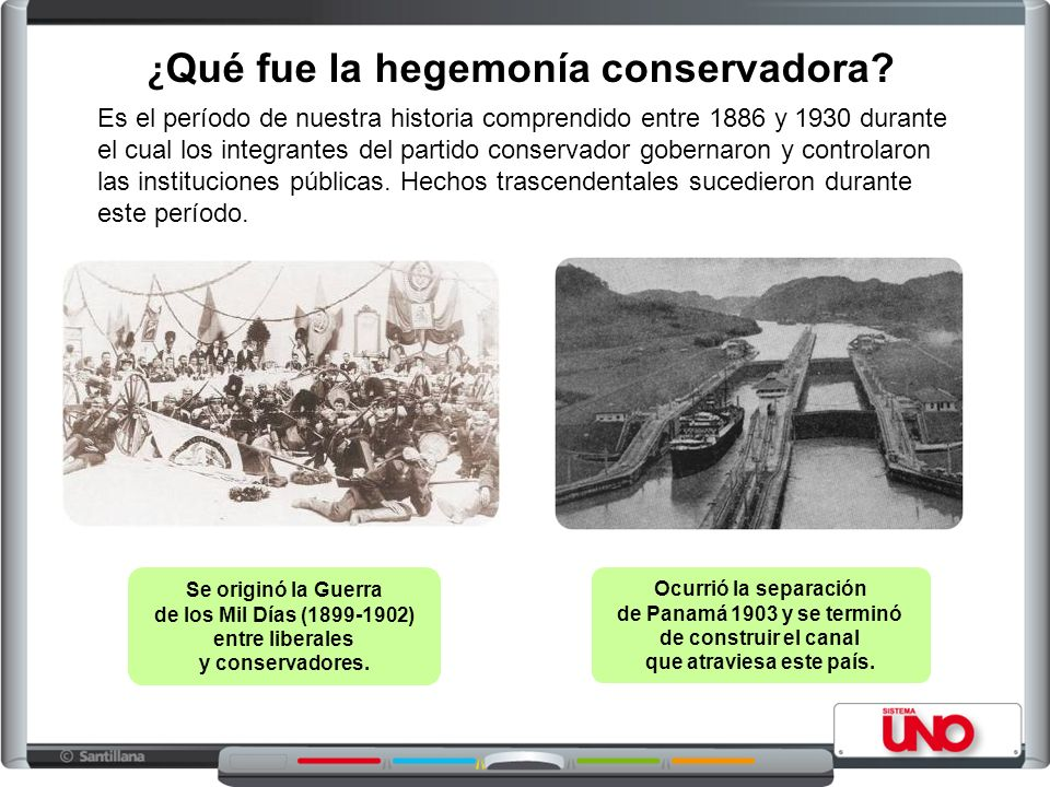 ¿ Qué fue la hegemonía conservadora? Es el período de nuestra historia comprendido entre 1886 y 1930 durante el cual los integrantes del partido conse